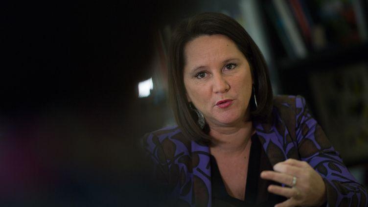 Johanna Rolland, la maire de Nantes (Loire-Atlantique), le 4 décembre 2019. (LOIC VENANCE / AFP)