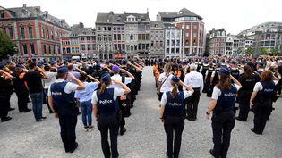 Hommage aux victimes de l'attaque de Liège, le 30 mai 2018. (EMMANUEL DUNAND / AFP)