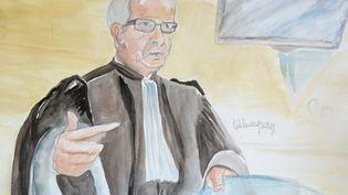 L'avocat général lors du réquisitoire dans le procès des parents du petit Bastien, aux assises de Seine-et-Marne. (ELISABETH DE POURQUERY / FRANCETV INFO)