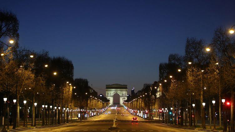 Les Champs-Elysées (Paris), le dimanche 23 août 2020. (LUDOVIC MARIN / AFP)