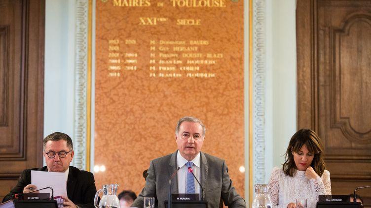 Jean-Luc Moudenc, maire sortant (LR) de Toulouse, lors d'une séance au conseil municipal, le 31 janvier 2020. (FR?D?RIC SCHEIBER / HANS LUCAS)