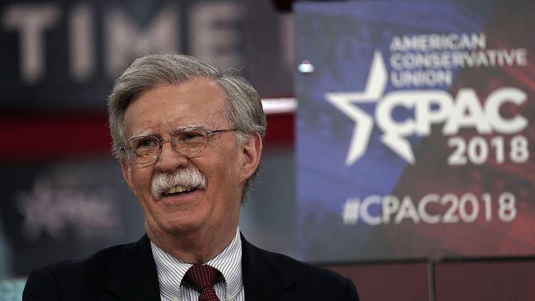 John Bolton fait un discours lors de la Conservative Political Action Conference (CPAC), le 22 février 2018 àNational Harbor (Etats-Unis). (ALEX WONG / GETTY IMAGES NORTH AMERICA / AFP)