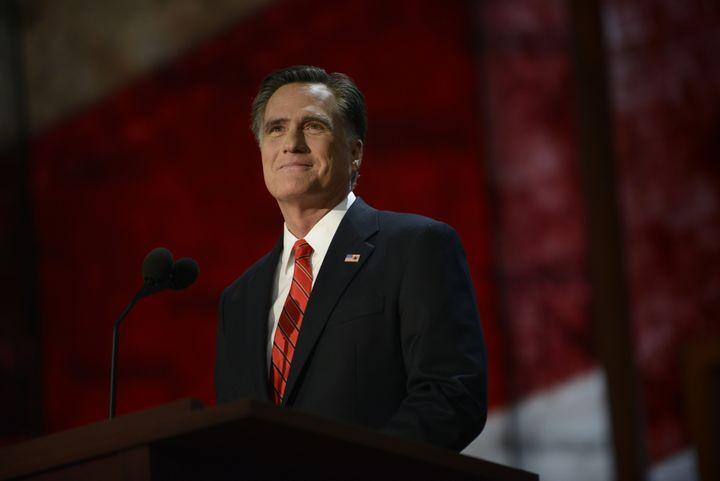 Mitt Romney, candidat républicain à la présidentielle américaine, à Tampa (Floride, Etats-Unis), le 29 août 2012. (BRENDAN SMIALOWSKI / AFP)