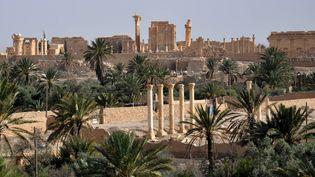 La cité antique de Palmyre en Syrie le 18 mai, le lendemain de l'attaque de l'EI.  (STR / AFP)