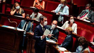 Olivier Véran à l'Assemblée nationale à Paris le 20 juillet 2021. (CHRISTOPHE MICHEL / HANS LUCAS / AFP)