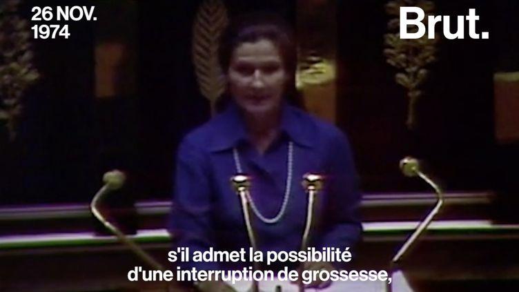 VIDEO. En 1974, Simone Veil montait à la tribune de l'Assemblée nationale pour défendre le droit à l'avortement (BRUT)