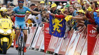 L'ItalienVincenzo Nibali remporte la 19e étape du Tour de France àLa Toussuire-Les Sybelles (Savoie), le 24 juillet 2015. (? STEFANO RELLANDINI / REUTERS / X90016)