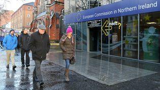 Les bureaux de la Commission européenne à Belfast en décembre 2018 (illustration). (PAUL FAITH / AFP)