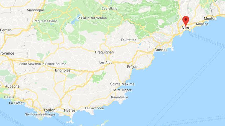 Des policiers ont identifié la victime d'une agression à Nice, diffusée sur les réseaux sociaux. (GOOGLE MAPS)