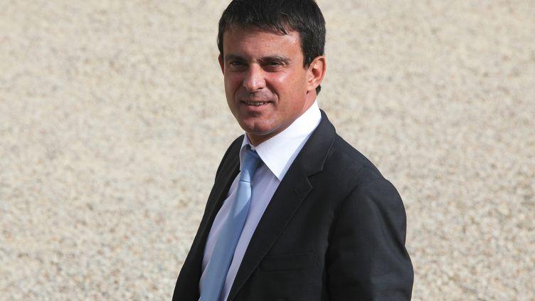 Le ministre de l'Intérieur, Manuel Valls, à l'Elysée, à Paris, le 5 septembre 2012. (FRANÇOIS LAFITE / MAXPPP)