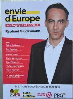 L'affiche de la listedesPlace publique-Parti socialiste pour les européennes 2019. (FRANCEINFO)