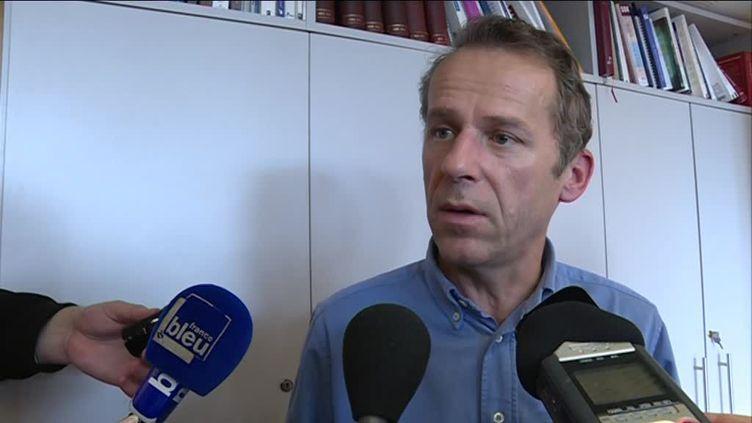 Le procureur de la République de Besançon (Doubs), Etienne Manteaux, vendredi 8 novembre 2019. (France 3 Franche-Comté)