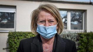 Brigitte Bourguignon, ministre déléguée auprès du ministre des Solidarités et de la Santé, chargée de l'Autonomie, le 15 mars 2021. (MIDI LIBRE / LE MIDI LIBRE / MAXPPP)