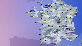 Des vents violents vont continuer de s'abattre sur toute la moitié nord du pays dans la nuit di dimanche 9 au lundi 10 février. (France 3)