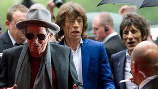 Keith Richards, Mick Jagger et Ronnie Wood à Londres en juillet 2012  (Leon Neal / AFP)