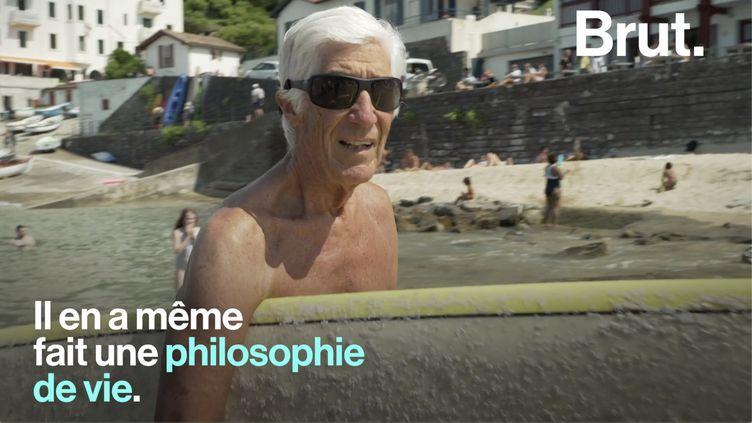 VIDEO. Joël de Rosnay et le surf… une grande histoire d'amour depuis 1957 (BRUT)