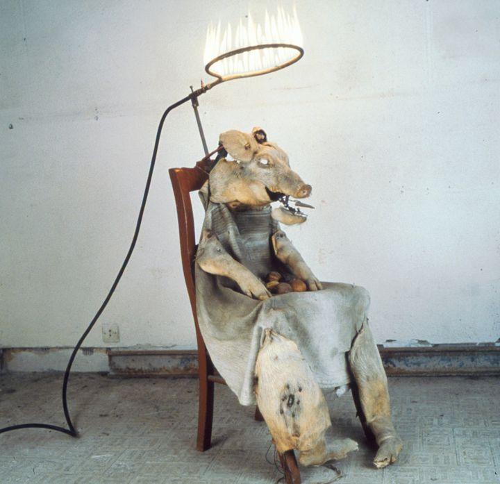 Le Roi cochon, 1992-2000, automate électromécanique  (Gilbert Peyre, photo David Damoison)