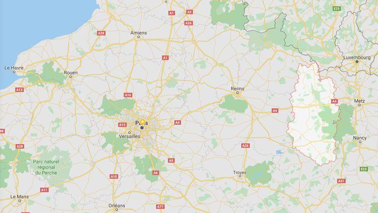 Le département de la Meuse a décidé de mettre en place un plan de lutte contre les addictions, et notamment l'héroïne, a annoncé le préfet du département, le vendredi 29 novembre 2019. (GOOGLE MAPS / FRANCEINFO)