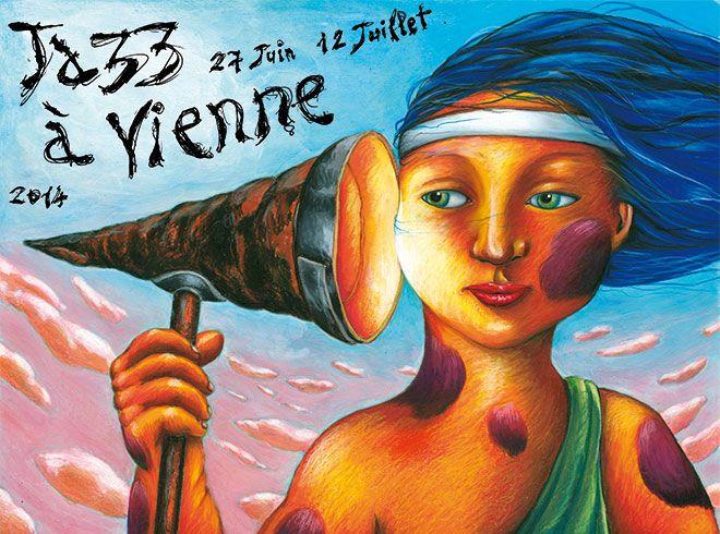 L'affiche de l'édition 2014  (Jazz à Vienne)