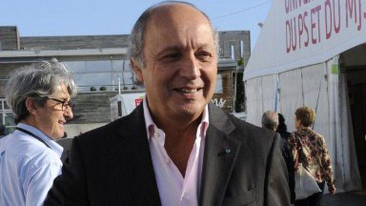 Laurent Fabius à l'Université d'été du PS à la Rochelle le 27 août 2012 (AFP/JEAN-PIERRE MULLER)