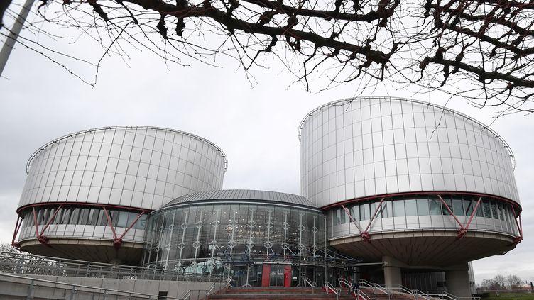 La Cour européenne des droits de l'homme (CEDH), à Strasbourg, le 7 février 2019. (FREDERICK FLORIN / AFP)