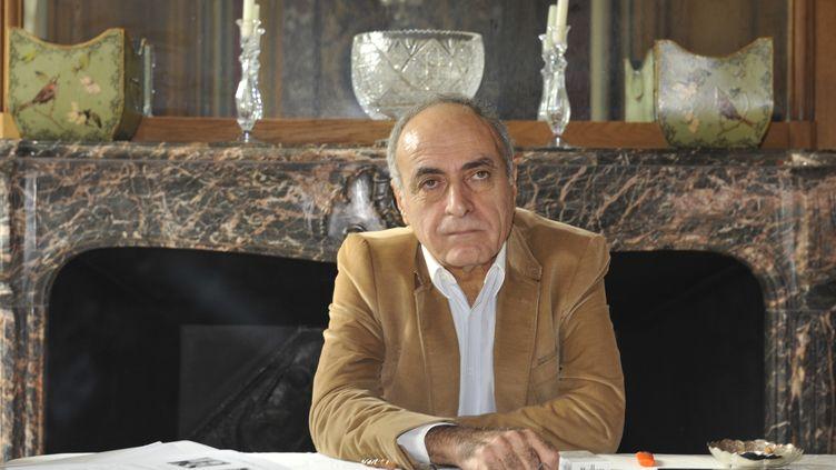 L'homme d'affaires franco-libanais Ziad Takieddine lors d'une conférence de presse à Paris, le 8 octobre 2012. (MEHDI FEDOUACH / AFP)