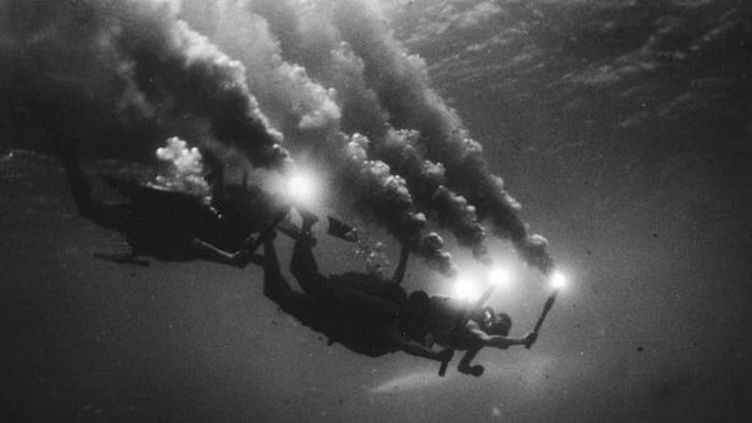 """Le tournage du """"Monde du silence""""  (KOBAL / THE PICTURE DESK)"""