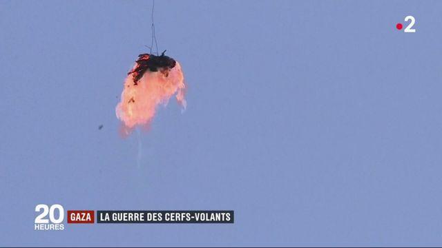 Gaza : des cerfs-volants palestiniens remplacent les pierres de l'Intifada
