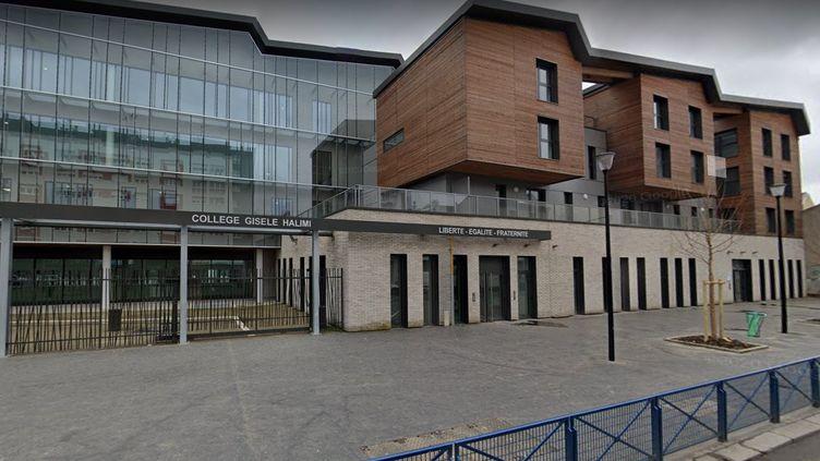 L'entrée du collègeGisèle Halimi à Aubervilliers (Seine-Saint-Denis).  (GOOGLE STREET VIEW)