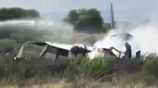 Crash d'un avion mardi 31 juillet 2018 au Mexique. (FRANCE 2)