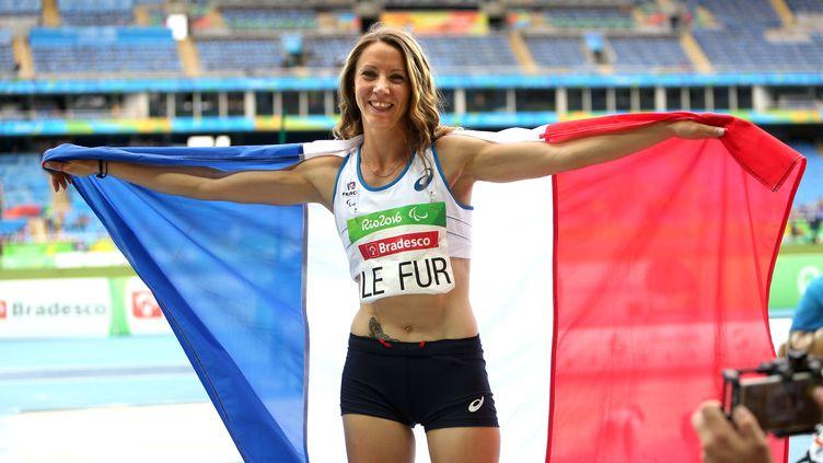 Marie-Amélie Le Fur championne paralympique du saut en longueur et du 400m (T44) à Rio. (G.PICOUT)