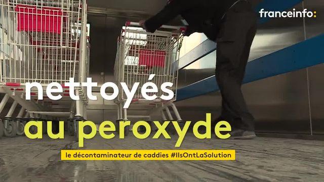 Une unité mobile qui nettoie et désinfecte les charriots testée dans un supermarché de Seine-Maritime
