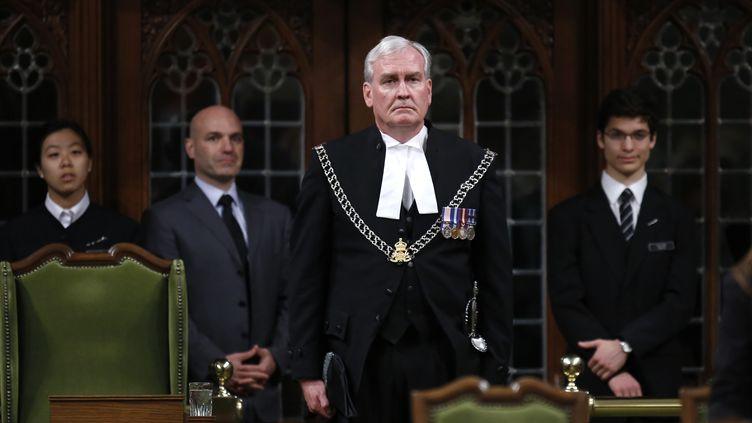Kevin Vickers,responsable de la sécurité de l'assemblée canadienne et de ses membres, à Ottawa, le 23 octobre 2014. (CHRIS WATTIE / REUTERS)