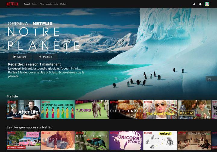 Page d'accueil d'un compte Netflix. (NETFLIX)
