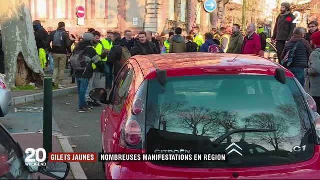 """""""Gilets jaunes"""" : nombreuses manifestations en régions"""