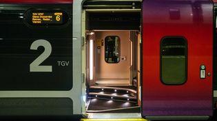 Un train à la gare Montparnasse à Paris le lendemain de Noël. (MATHIEU MENARD / HANS LUCAS / AFP)