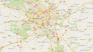 La ville de Melun, en Seine-et-Marne, où des mineurs ont saccagé une école maternelle, samedi 1er août. ( GOOGLE MAPS)
