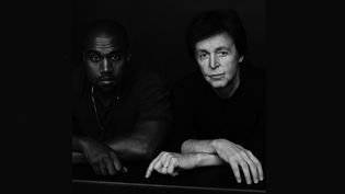 "Kanye West et Paul McCartney pour la collaboration ""Only One"".  (Inez and Vinoodh)"