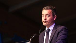 Le ministre des Finances et des comptes publique, Gérarld Darmanin, présent au voeux à la population de la commune. (THIERRY THOREL / MAXPPP)