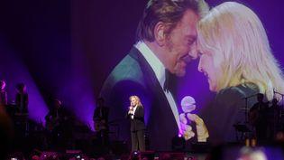 Sylvie Vartan, lors de son concert hommage à Johnny Hallyday au Grand Rex à Paris, en avril 2018  (SIPA/SIPA)