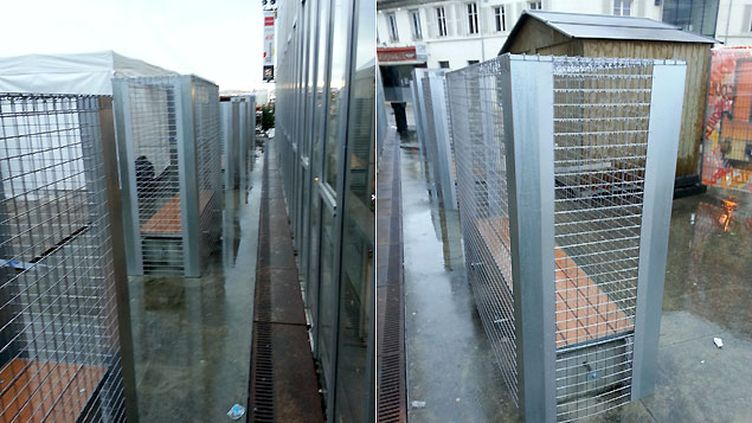 (Les bancs grillagés d'Angoulême © Pierre Marsat / RF)