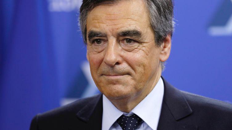 Le candidat au second tour de la primaire à droite François Fillon, le 22 novembre 2016 à Paris. (THOMAS SAMSON / REUTERS)