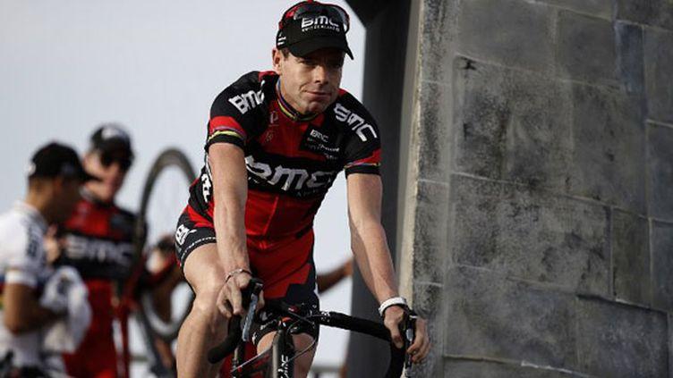 Le vainqueur du Tour 2011, Cadel Evans, tout sourire sur le port de Porto Vecchio