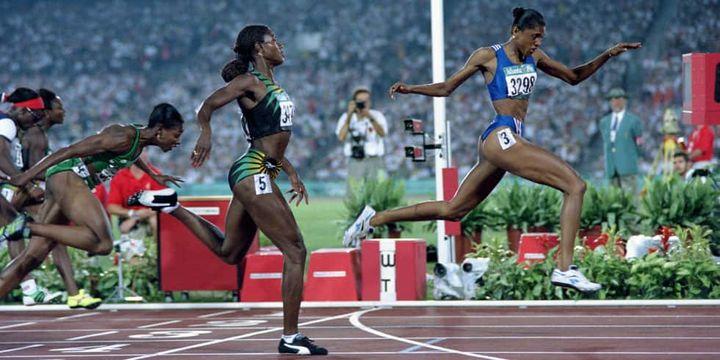 Marie-Josée Pérec championne olympique du 200m à Atlanta en 1996