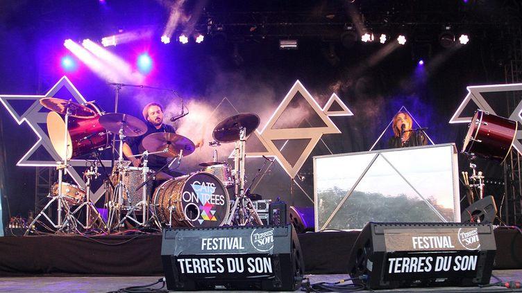 Le groupe Cats on trees, lors de son concert au festival Terres du son, en 2014. (LUDOCIV DUPRAZ / MAXPPP)