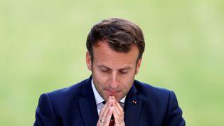 Le président Emmanuel Macron à l'Elysée, le 29 juin 2020. (CHRISTIAN HARTMANN / AFP)