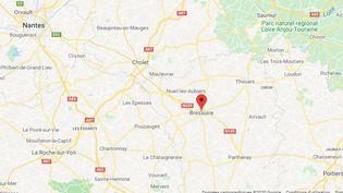 La commune de Bressuire se trouve dans le département des Deux-Sèvres. (GOOGLE MAPS / FRANCEINFO)