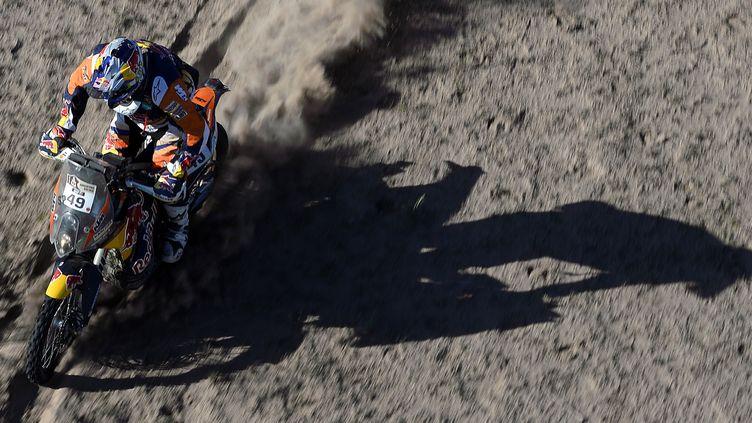 Antoine Méo (KTM) sur le Dakar 2016 (FRANCK FIFE / AFP)