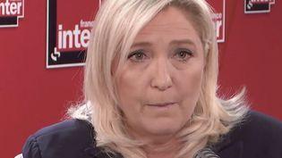 Marine le Pen était l'invitée de France Inter mercredi 10 juin. (CAPTURE ECRAN FRANCE INTER)