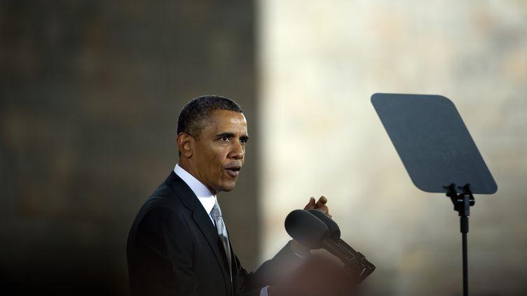 Le président américain, Barack Obama, à Mexico (Mexique), le 3 mai 2013. (YURI CORTEZ / AFP)